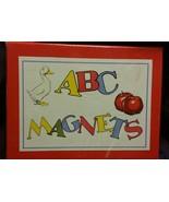 Cavallini & Co. ABC Flash Card Magnets Set NIB Retro Letters Pictures 2002 - $18.68