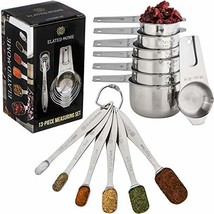 Measuring Cups and Spoons Set Includes 6 Measuring Spoons and 7 Measurin... - £17.62 GBP