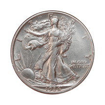 1936 S Walking Liberty Half Dollar - AU / Almost Uncirculated - $62.00