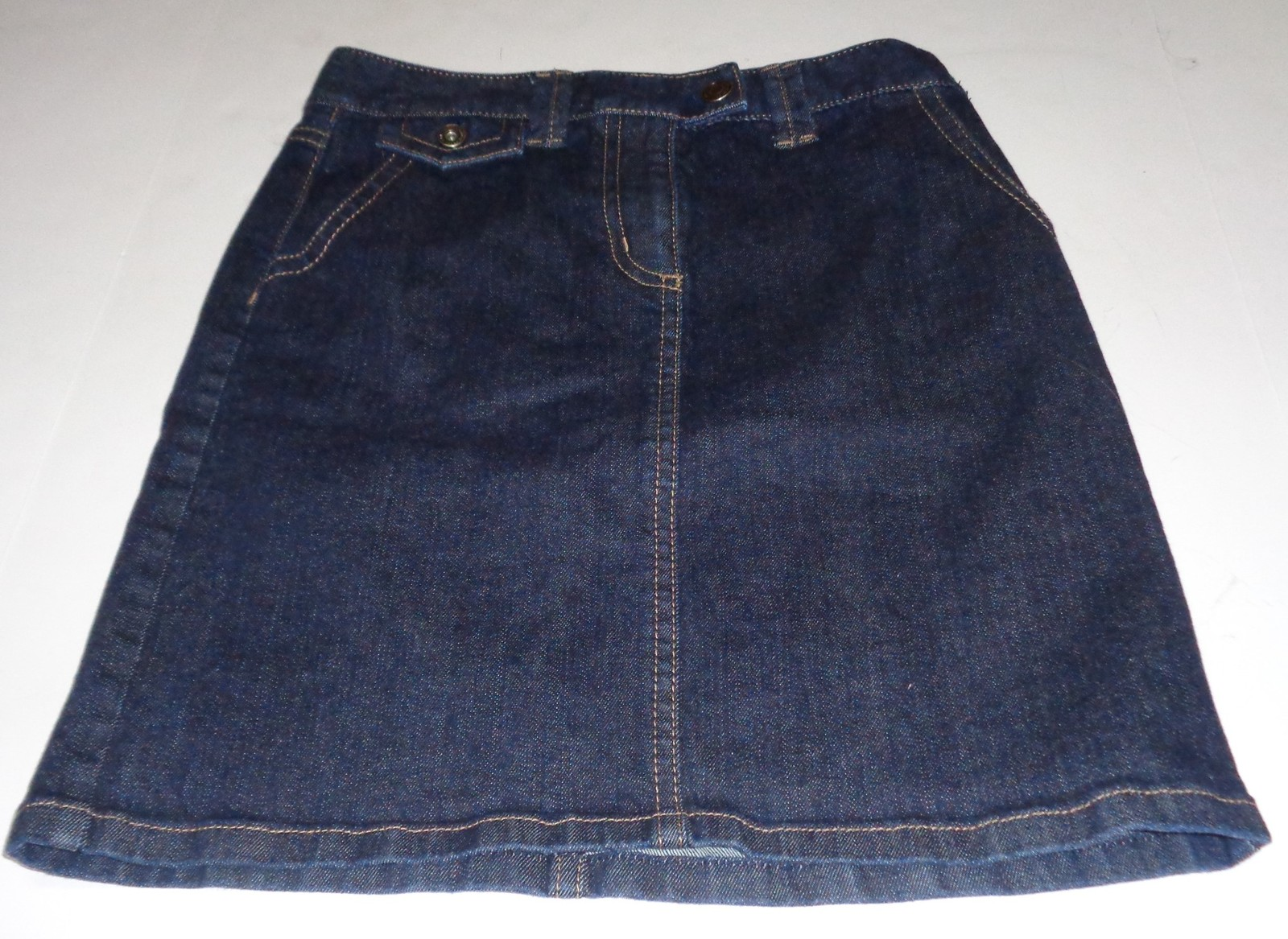 Ann Taylor Dark Blue Jean Skirt Sz 6 NEW Ladies