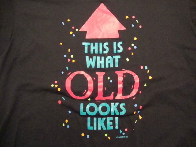 Primary image for Vintage This Is What Old Looks Like Funny Black Soft T Shirt Size L