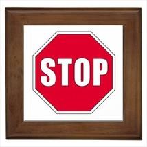 Stop Framed Tile Art (Home Decor) - Wall Sign - $12.24