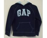 Gap girl navy blue hooded fleece light blue hood s 6 7 thumb155 crop