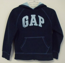Gap girl navy blue hooded fleece light blue hood s 6 7 thumb200