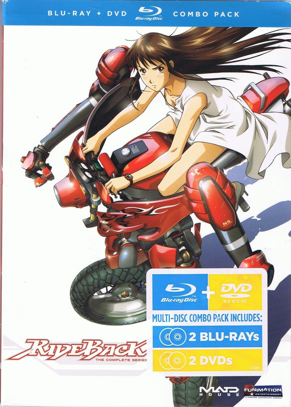 Rideback: The Complete Series (Blu-ray/DVD 4 Disc Set) New Anime Animation