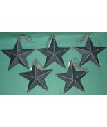 """Hearthside Collection 5"""" Black Metal Accent Stars Set of 5 NEW Primitive... - $7.19"""