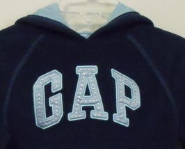 Girls Gap Girl Navy Blue Fleece Hooded Long Sleeve Sweatshirt Size Small 6 to 7  image 2