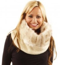 NWD £55.00 Urban Code Faux Fur Double Knit Snood Cowl Scarf Wrap Cozy Loop  - $9.49