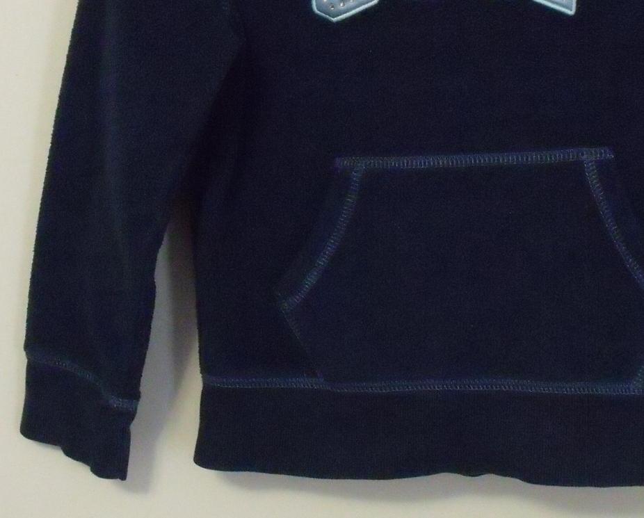 Girls Gap Girl Navy Blue Fleece Hooded Long Sleeve Sweatshirt Size Small 6 to 7  image 3