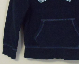 Girls Gap Girl Navy Blue Fleece Hooded Long Sleeve Sweatshirt Size Small 6 to 7  image 3