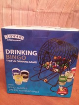 NEW IN BOX Drinking Bingo Game with Rotary Cage and Shot Glasses !! - ₨902.26 INR