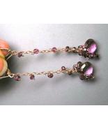 Dripping Garnets, Rose Gold fill earrings, Myst... - $118.00