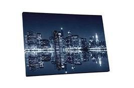 "Pingo World 0901Q2Y64MM ""New York Manhattan Night Skyline"" Gallery Wrapped Canva - $138.55"