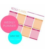DIY Weekly Planner for Bullet Journaling - $4.70 CAD