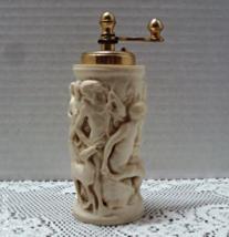 Vintage Molded Plastic/Resin Grecian Roman Scene Pepper Grinder Pepper Mill - $14.00