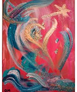 Original Painting with Andara crystal Etherium - Multi-dimensional Sacre... - $125.00