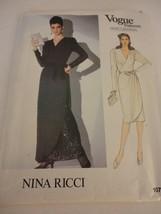 Vintage Nina Ricci  Vogue Size 8 1074 evening dress uncut sewing pattern - $27.71