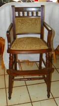 Small Walnut High Chair   - $249.00