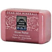 One with Nature Dead Sea Minerals Rose Petal So... - $8.85