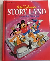 Walt Disneys Story Land Large Hardcover Book Illustrated 55 Stories Gold... - $19.33