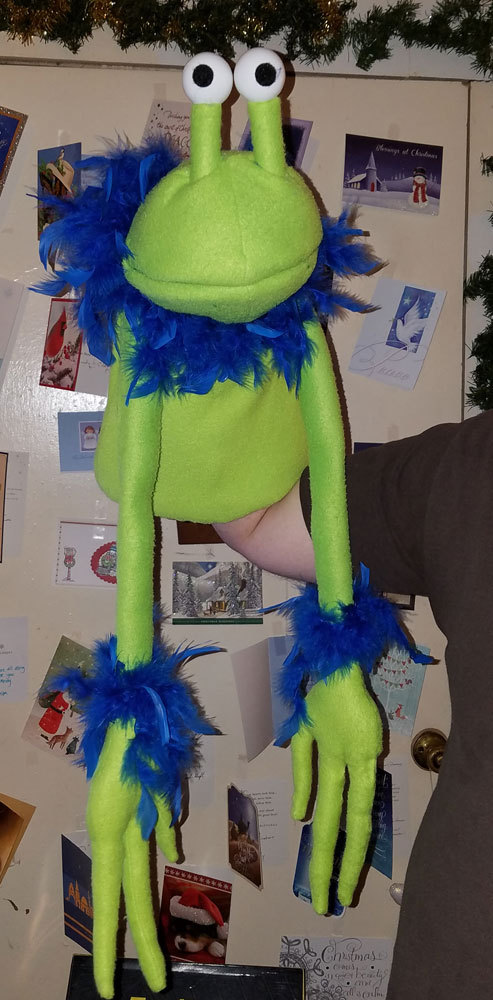 "Professional ""Rosswell the Alien"" Muppet Style Ventriloquist Puppet *Custom Made"