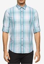 Calvin Klein Jeans Men's Plaid Shirt, Porcelain, Size XL, MSRP $69 - $32.66