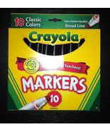 10 Crayola Classic Markers Choose Your Color Black Pink Orange Red + Bro... - $3.99
