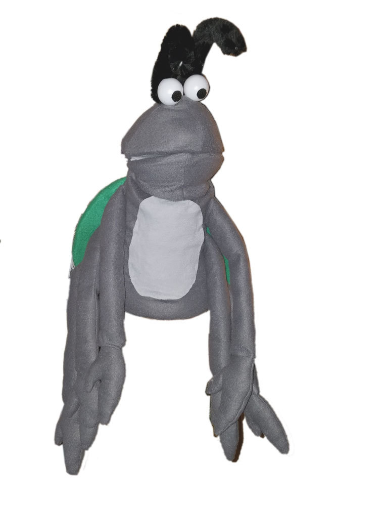 "Professional ""Grey Bug w/6 Arms"" Muppet Style Ventriloquist Puppet * Custom Made"