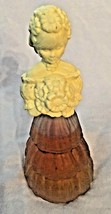 "Vintage Yellow AVON 6.5"" Garden Girl 1978 Figurine Perfume Bottle - $8.51"