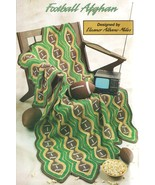 Football Afghan Crochet Pattern Blanket Throw 44 by 64 Inches Annies Attic  - $13.29