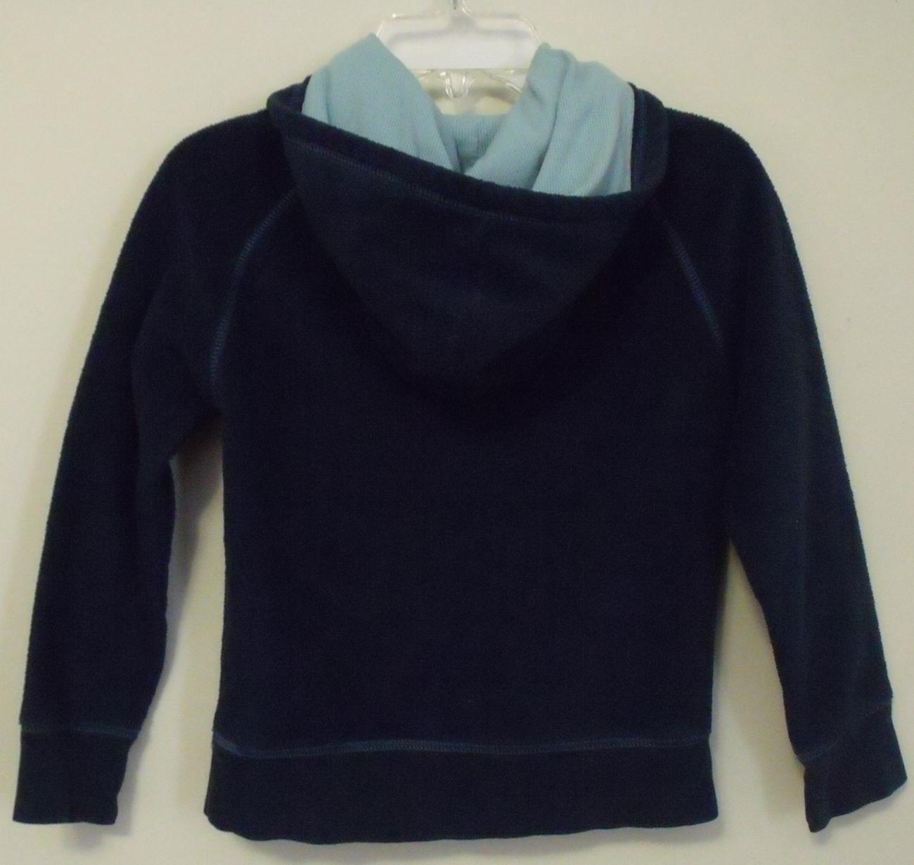 Girls Gap Girl Navy Blue Fleece Hooded Long Sleeve Sweatshirt Size Small 6 to 7  image 5