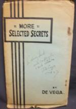 More Selected Secrets by De Vega signed - $72.50