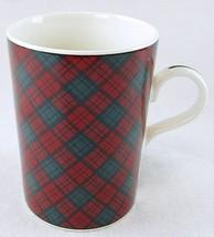 "NEW NOS Sasaki Tartan Plaid Red & Green 4-1/8"" Mug Japan - $8.99"