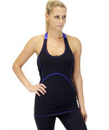 X by Gottex Racerback Adjustable Halter Sport Gym Yoga layer Tank Top XS... - $9.49+