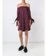 NWT 2016 AUTH TIBI Off Shoulder Tie Sleeve Dres... - $145.00