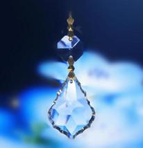 4pcs Crystal Baroque 50mm Leaf Chandelier Parts Prism Wedding Lamp Lighting Part - $16.42