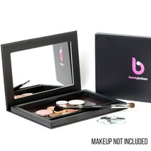 Large Black Empty Magnetic Makeup Palette with Mirror: Organizer Case for Eye... image 2