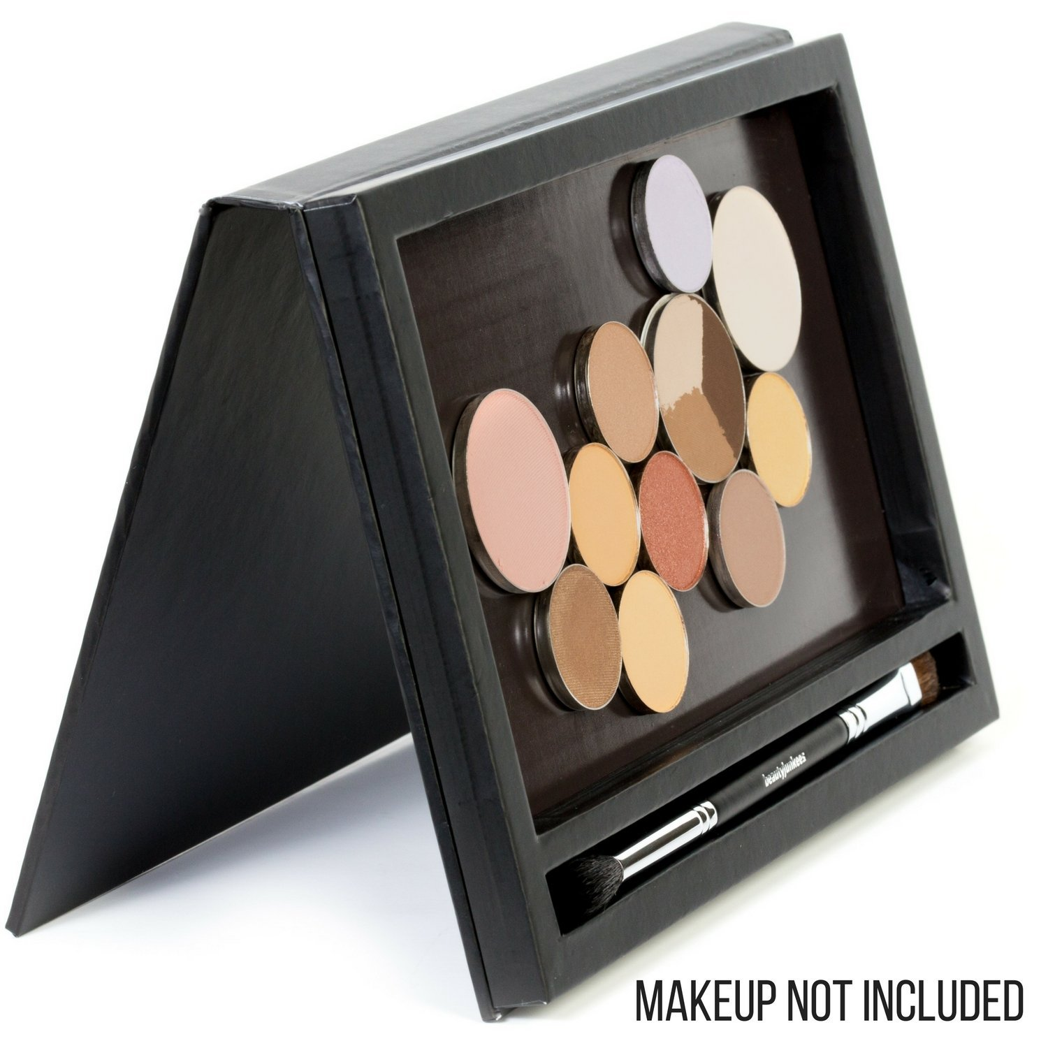Large Black Empty Magnetic Makeup Palette with Mirror: Organizer Case for Eye... image 6