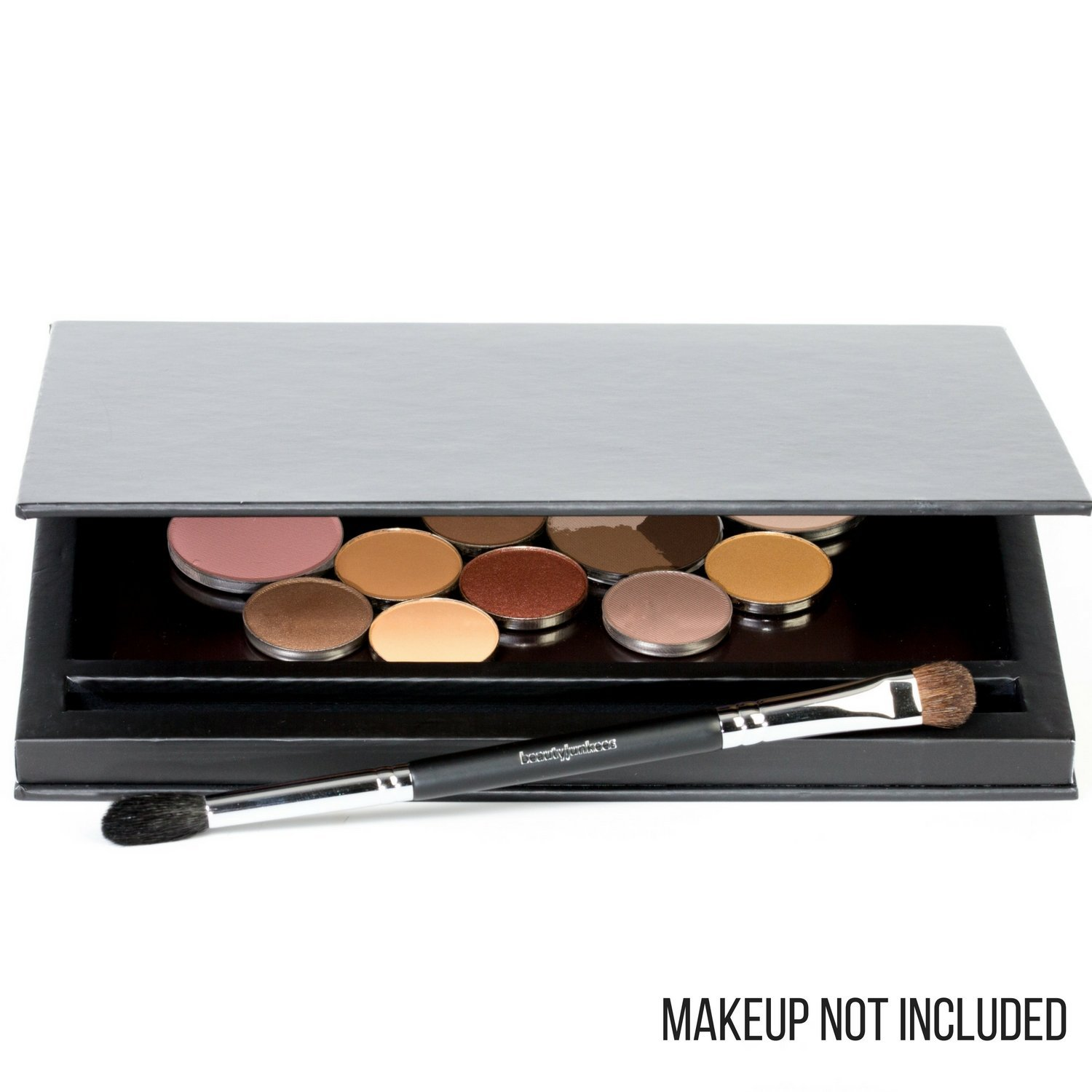 Large Black Empty Magnetic Makeup Palette with Mirror: Organizer Case for Eye... image 7