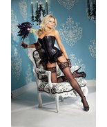 Sequin Overbust Corset w/Feather Trim, Zipper Front, Lace Backing & Remo... - $15.91