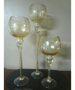 Set of 3 Charisma 24k Gold Painted Hurricanes  - $38.48