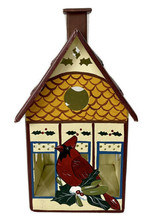 Lenox Winter Greetings Toleware Cardinal Birdhouse Votive Holiday Candle... - $14.03