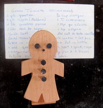 Hand Made Wooden Gingerbread Man Recipe Clip Lot of 20 - $6.93