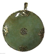 """14k Solid Yellow Gold Butterfly """" Good Luck """" Medallion Pendant (Item#1) - $175.00"""