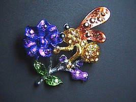 Fashion  Flower & Bee Brooch - $10.00