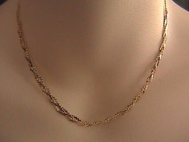 """Italian Sterling silver Braided Necklace 15.75 """" - $30.00"""