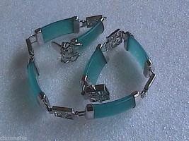 Fashion 18k GP Faux Jade bracelet - $15.00