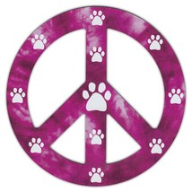 Peace Sign Shaped Magnets (See Through): Redish/Purple Design w/Paws - €5,97 EUR