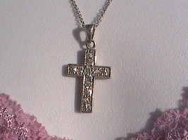 Sterling Silver CZ Crucifix Necklace - $35.00