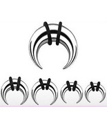 4 Pairs Steel Tapers Talons Pinchers Horseshoes plugs ear gauges 8g 10g ... - $16.48